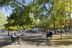 Free Exterior View Of The Santa Fe Plaza Stock Photos - 174695683
