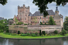 Exterior view of old Dutch Castle. Exterior of the old Castle Huis Bergh in the City of 's-Heerenberg Neterhlands Royalty Free Stock Photos