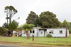 Exterior view of old rundown house royalty free stock photo
