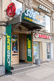 Exterior view one of Subway restaurant in St. Petersburg, Russia Stock Photography