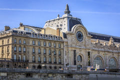 An exterior view of the Orsey Museum in Paris. The Orsey Museum was originally a train station now houses an art collection Royalty Free Stock Photo