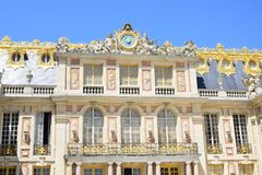Exterior view of Palace of Versailles Royalty Free Stock Photo