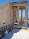 Exterior view of the Parthenon temple at the Acropolis Royalty Free Stock Photography