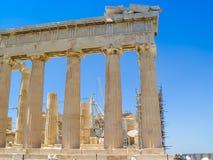 Exterior view of the Parthenon temple at the Acropolis Stock Photo