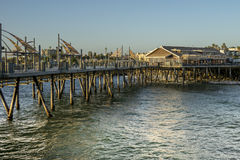 Exterior View of the pier on the Torrance beach Stock Photography