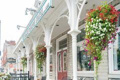 Exterior view of the The Prince George Hotel. Kingston, OCT 5: Exterior view of the The Prince George Hotel on OCT 5, 2018 at Kingston, Canada royalty free stock photos