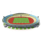 Exterior view of Royal Bafokeng Stadium in Rustenburg, South Africa  on white 3D Illustration Royalty Free Stock Photo