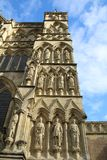 Exterior view of Salisbury cathedral. In Wiltshire, UK. This imposing building holds one of the 4 remaining copies of the Magna Carta royalty free stock images