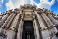 Exterior view Santa Maria in Campitelli church in Rome Royalty Free Stock Photography