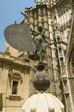 Exterior view of the Sevilla Cathedral, Southern Spain Royalty Free Stock Photo