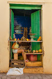 Exterior view of the small, typical Cuban vegetable and fruit shop. Trinidad, Cuba Stock Photos
