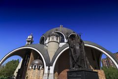 St. Clement of Ohrid or Kliment Ohridski Church in Skopje. Exterior view of St. Clement of Ohrid or Kliment Ohridski Church in Skopje, Macedonia Royalty Free Stock Images