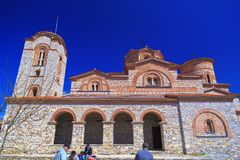 Exterior view of St. Panteleimon in Ohrid, Macedonia. Royalty Free Stock Photo