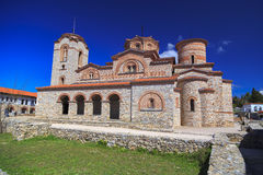 Exterior view of St. Panteleimon in Ohrid, Macedonia. Royalty Free Stock Photography