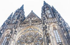 Exterior view of St. Vitus Cathedral, Prague,. Czech Republic stock photography