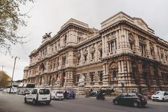 Exterior view of the Supreme Court in Rome, Italy stock images