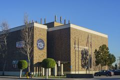 Exterior view of the Temple City Unified School District. Los Angeles, JAN 23: Exterior view of the Temple City Unified School District on JAN 23, 2018 at Los Royalty Free Stock Photography