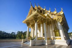 Thai style church. Exterior view of Thai style church royalty free stock images