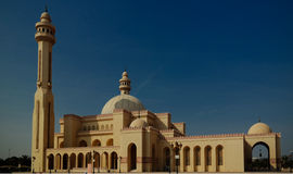 Exterior view to Al Fateh Mosque, Manama, Bahrain Royalty Free Stock Photo