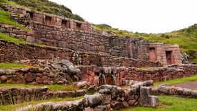 Exterior view to archaeological site of Tambomachay, Cuzco, Peru Royalty Free Stock Photography
