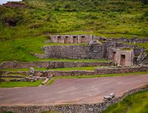 Exterior view to archaeological site of Tambomachay, Cuzco, Peru stock image