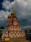 Exterior view to Cathedral of Holy Blessed Virgin Mary, Nizhny Novgorod, Russia Royalty Free Stock Image