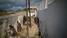 Exterior view to Elmina and castle and fortress and Fort Coenraadsburg, Ghana stock photography