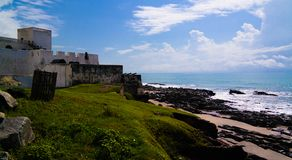 Exterior view to Elmina castle and fortress, Ghana royalty free stock photos