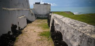 Exterior view to Elmina castle and fortress, Ghana stock photography