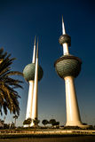 Exterior view to fresh water reservoir aka Kuwait Towers, Kuwait Stock Image