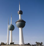 Exterior view to fresh water reservoir aka Kuwait Towers, Kuwait Stock Photography