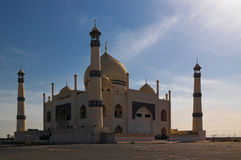 Exterior view to Friendly Fatima Zahra mosque aka copy of Taj Mahal, Kuwait Stock Image