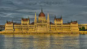Exterior view to Hungary Parliament House, Budapest Hungary Royalty Free Stock Photography