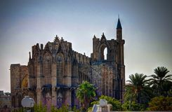 Exterior view to Lala Mustafa Pasa mosque at Famagusta, Cyprus Stock Photo