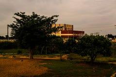Exterior view to Palace de Congress, Niamey, Niger royalty free stock image