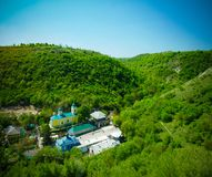 Exterior view to Saharna orthodox Holy Trinity monastery at Moldova Royalty Free Stock Photography