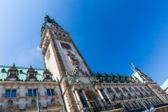 Exterior view of the town hall of Hamburg Stock Photos