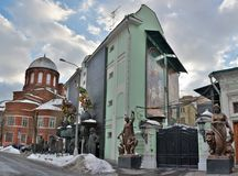 Exterior view of Tsereteli museum in Moscow, Russia stock photos