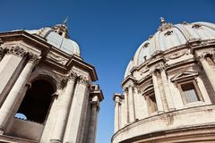 Exterior View of two, old church domes Stock Image
