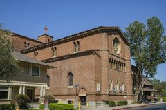 Exterior view of the United University Church. Los Angeles, JUN 23: Exterior view of the United University Church in USC on JUN 23, 2017 at Los Angeles Stock Image