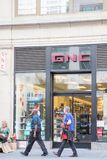 Exterior view of Vitamins & Supplements - GNC store in New York city. stock images