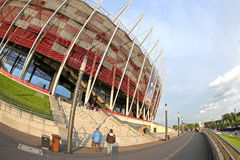 Exterior view of Warsaw National Stadium Royalty Free Stock Photography
