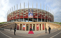 Exterior view of Warsaw National Stadium Stock Photos
