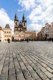 Exterior views of buildings in Prague Stock Photos