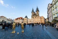 Exterior views of buildings in Prague Stock Images