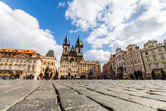 Exterior views of buildings in Prague Royalty Free Stock Photography