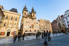 Exterior views of buildings in Prague Royalty Free Stock Photo