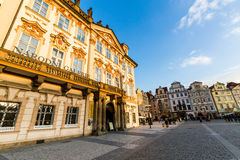 Exterior views of buildings in Prague Stock Photo