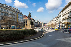Exterior views of buildings in Prague Stock Photography