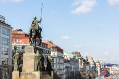Exterior views of buildings in Prague Royalty Free Stock Photo